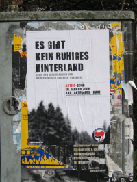 Plakatiertes Plakat, Demo Bad Lauterbeg am 19.1.2008