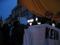 Antifaschistische Demonstration vor Nazi-Spielothek in Bad Lauterberg, 19.01.2008