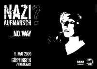 Plakat: Naziaufmarsch? No way!