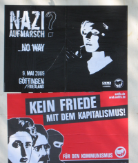 wildplakatiert: Naziaufmarsch? No way! 09.05.2009, Friedland / Göttingen