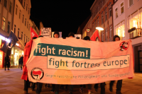 Antira-Demo in Göttingen, 07.02.2014