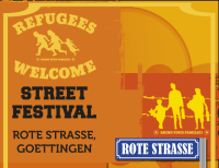 Plakat: Refugees Welcome-Street Festival Rote Straße