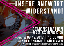 Demonstration gegen G20-Repression 05.12.2017