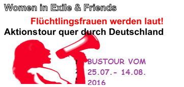 Women in Exil and Friends Bustour  am 08.+ 09. August in Bremen!