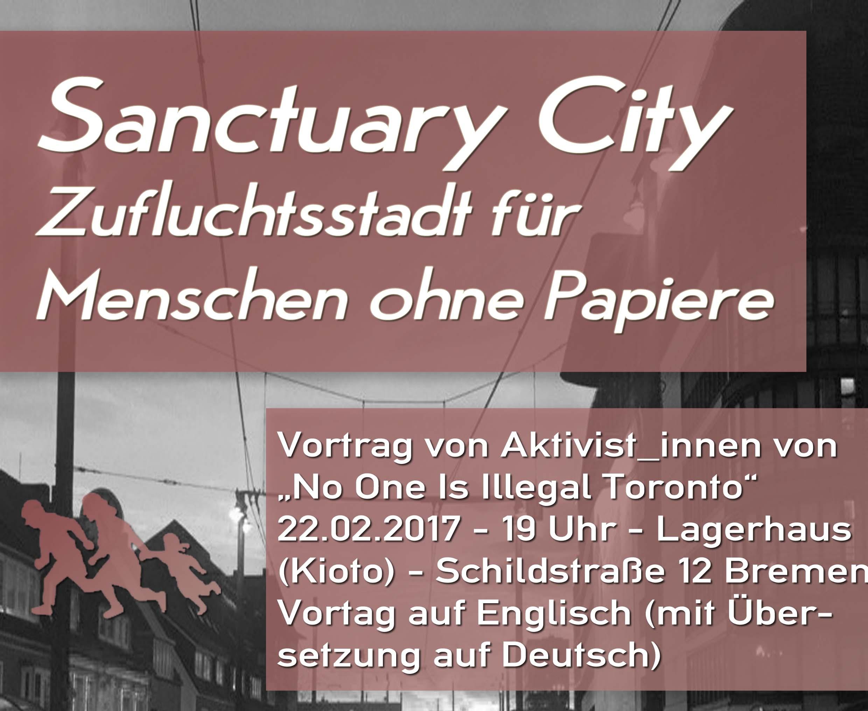 Veranstaltung: Sanctuary City – Zufluchtsstadt für  Menschen ohne Papiere