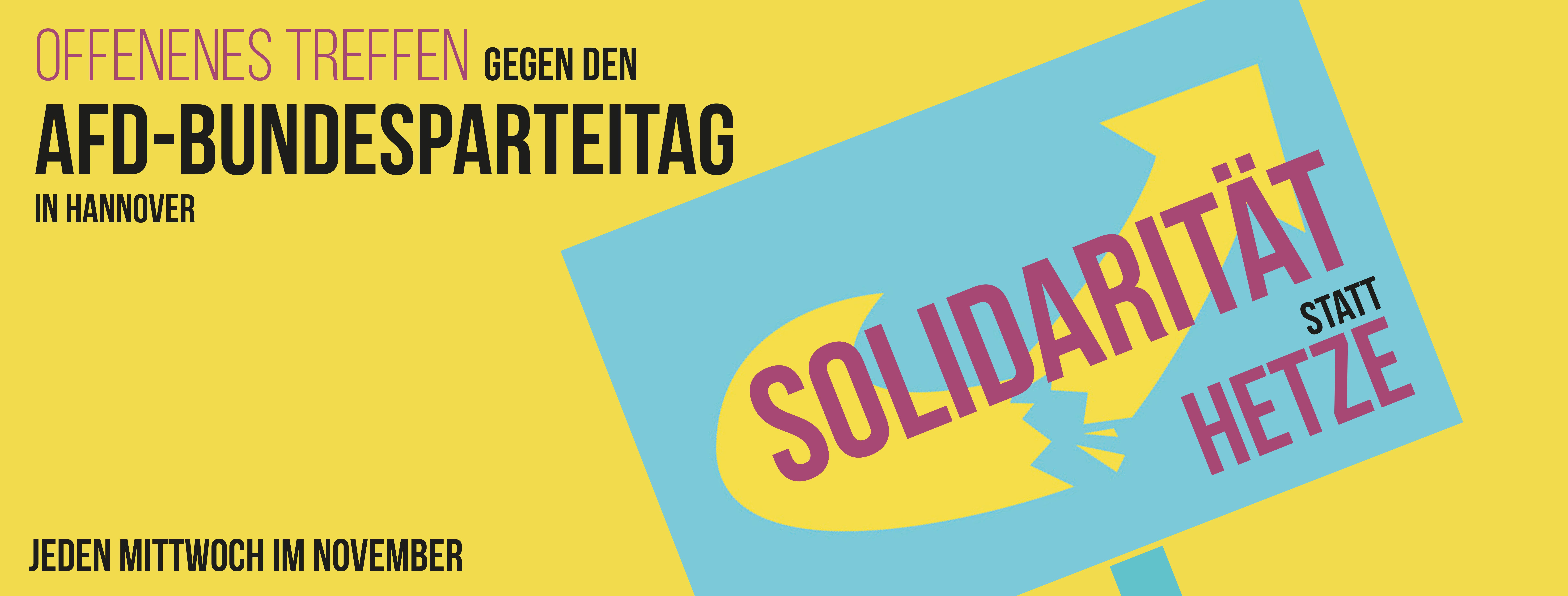 Offenes Treffen: Gegen den AfD-Bundesparteitag in Hannover