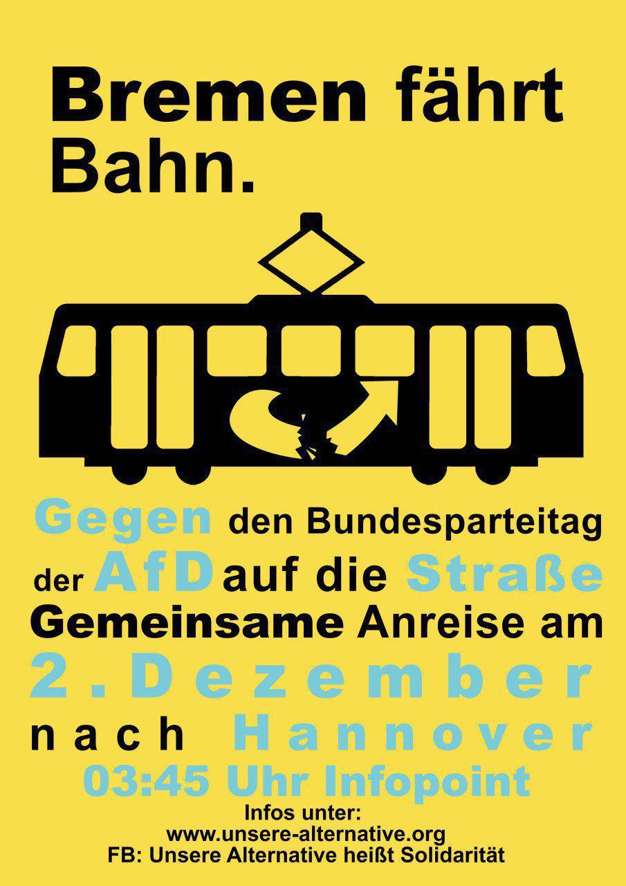 AfD-Bundesparteitag 02.12. – Öffentlicher Treffpunkt zur gemeinsamen Anreise