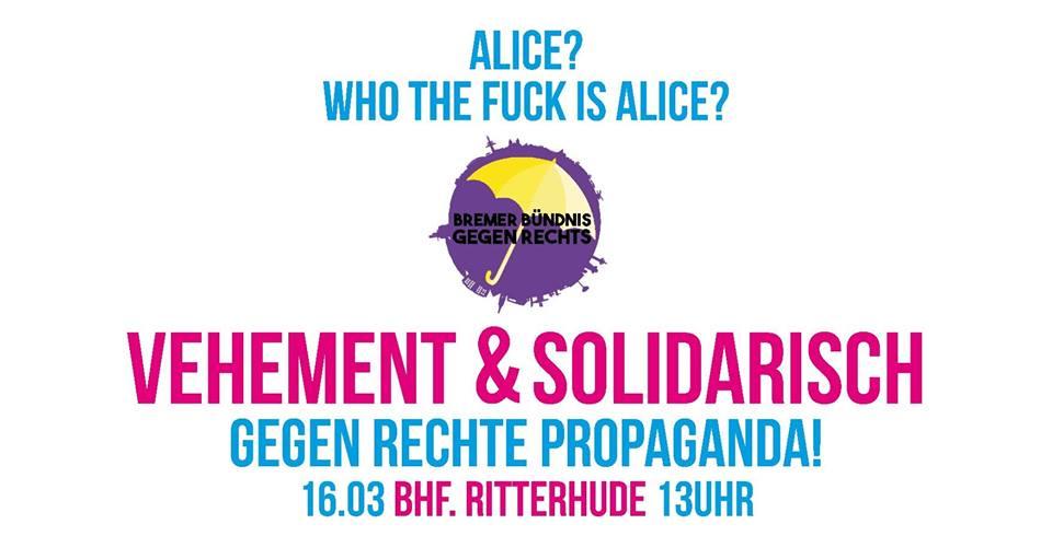 Redebeitrag der IL Bremen auf Kundgebung gegen das AfD-Frühlingsfest in Ritterhude 16.03.