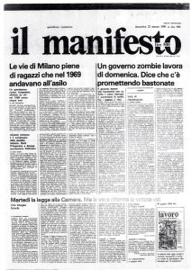 159 Terrorismo? Nein, danke. Un documento dal carcere di Toni Negri. Il Manfesto 22 marzo 1981