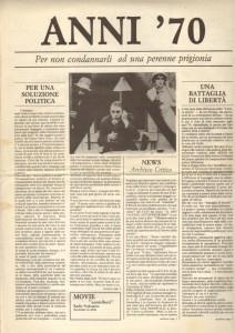 Anni '70 n. 0