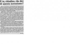 Questionario Torino da La Stampa 22.2.1979