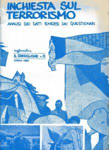 Inchiesta sul terrorismo, analisi dei dati emersi dai questionari. Supplemento a Il consiglione n° 13 luglio 1980