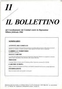 Contro la soluzione politica / Ancora contro la solzione politica - Badu Complot - Il Bollettino 11 - settembre 1983