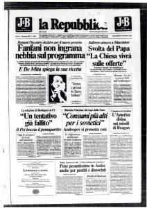 162 Processo UCC. Roma, a pentiti e dissociati durissime condanne in Assise. La Repubblica 24 novembre 1982
