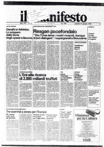 """164 Dalla critica della """"lotta armata"""" all'idea di conflitto e mediazione. Rossana Rossanda, Il manifesto 17 gennaio 1984"""