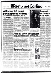 166 . Il Resto del Carlino. 15 aprile 1983