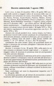 Decreto ministeriale 3 agosto 1983
