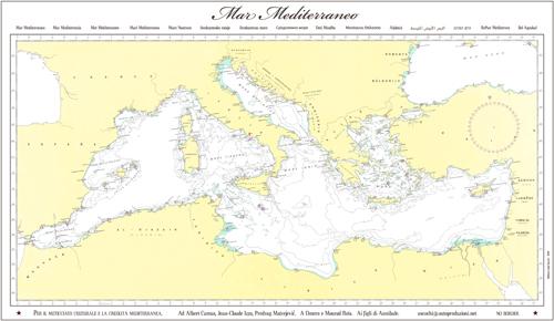 Mediterraneo Cartina.Folletto 25603