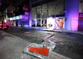 Ataque de CARI-PGG a una oficina de Banco Santander