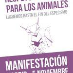 ESPAÑA: 5 DE NOVIEMBRE ANTIESPECISTA