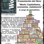 "ESPAÑA: PRESENTACIÓN DEL LIBRO ""WORK: CAPITALISMO, ECONOMÍA, RESISTENCIA"" A CARGO DE CRIMETHINC."