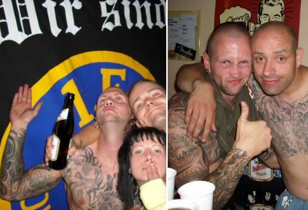 Nazikonzert am 31. Juli 2009: links Nico Ewertowski, rechts Ewertowski und Rocco Hahn. Foto: Archiv.
