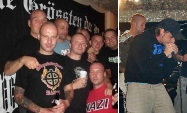 """Nazikonzert am 31. Juli 2009: ganz links Michael Woitag, rechtes Bild Lutz Salamanek mit """"Eastside"""" auf der Bühne. Foto: Archiv."""