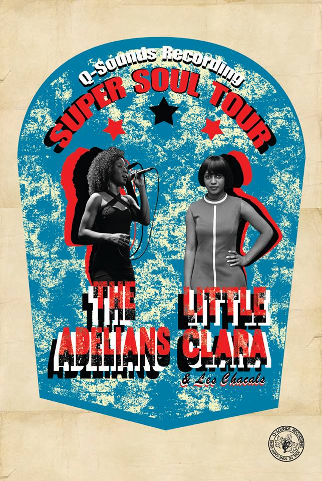 Affiche de la tournée conjointe de The Adelians & Litte Clara
