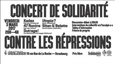 Concert de Solidarité Contre les Répressions