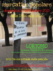 Locandina Mercatino 15 settembre Ortobio