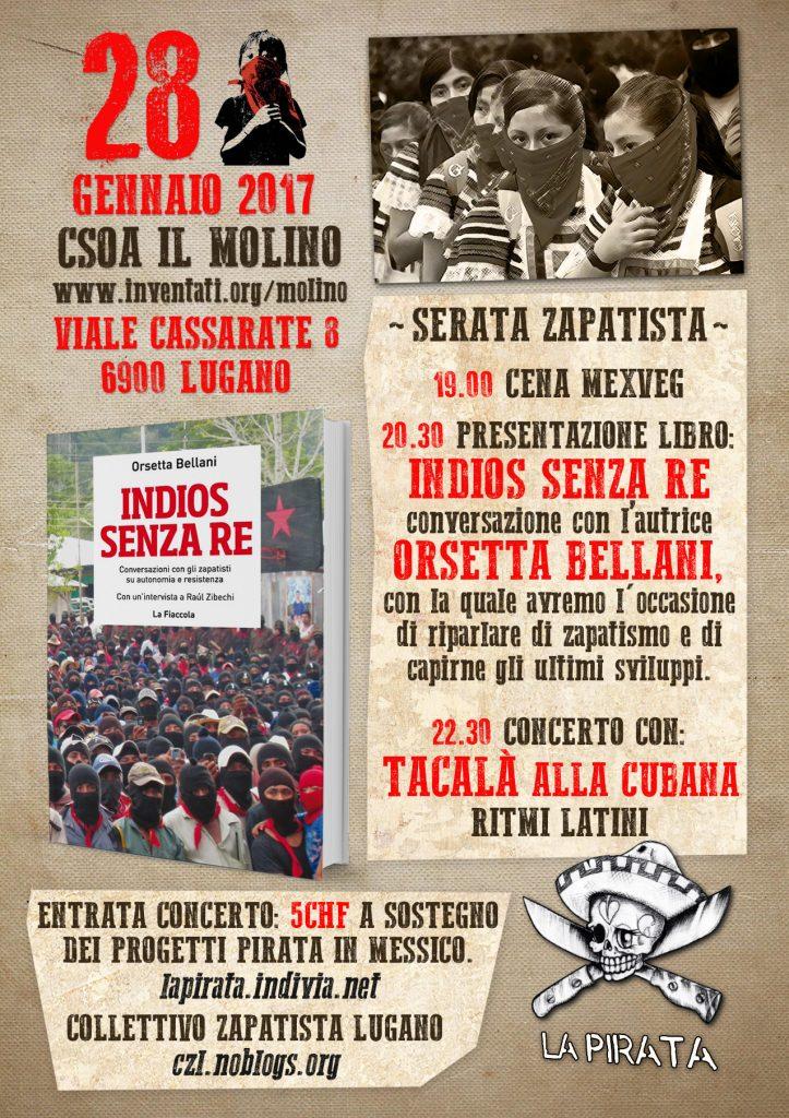 28.01.2017 - Indios Senza Re - Presentazione del Libro su Zapatisti, Autonomia e Resistenza