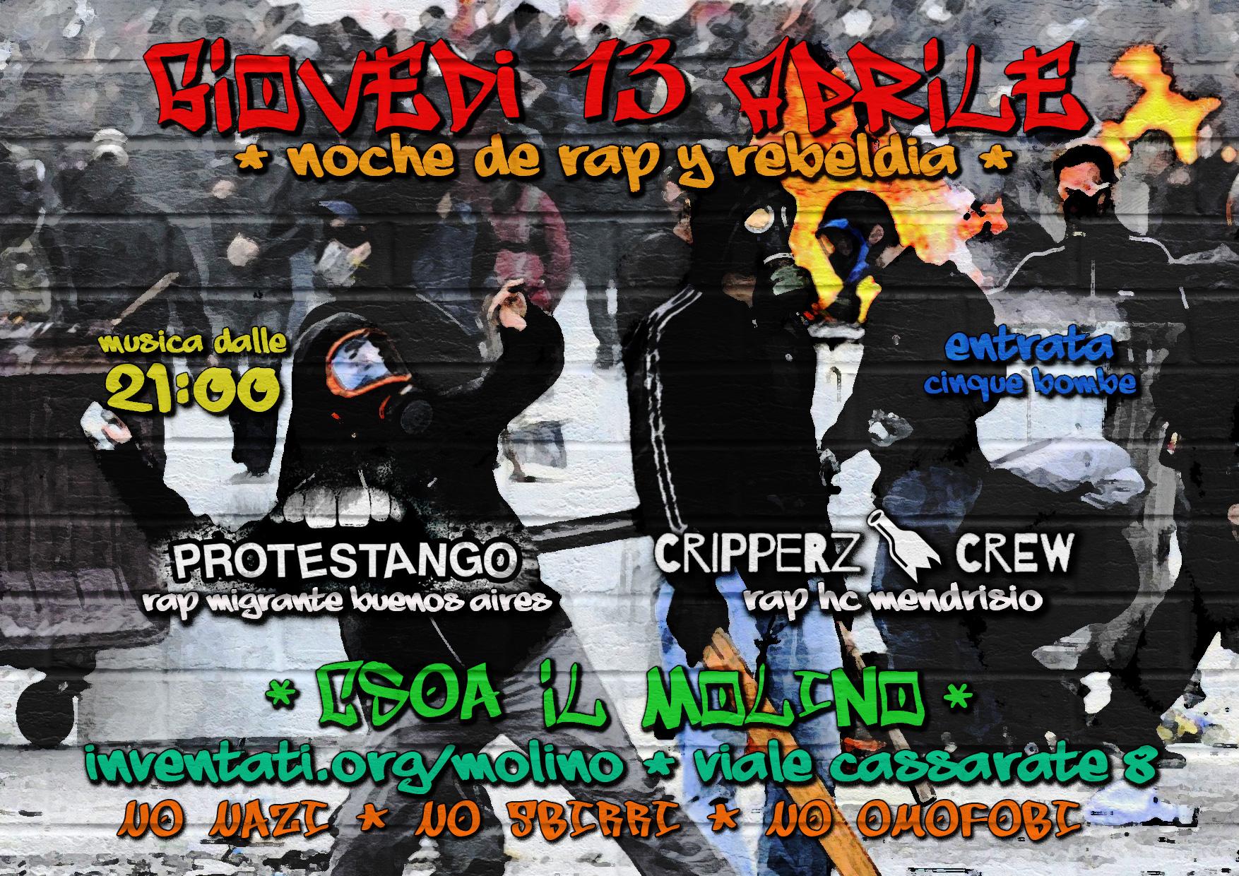 13.04.2017 - Noche de Rap y Rebeldía - Protestango y Cripperz Crew