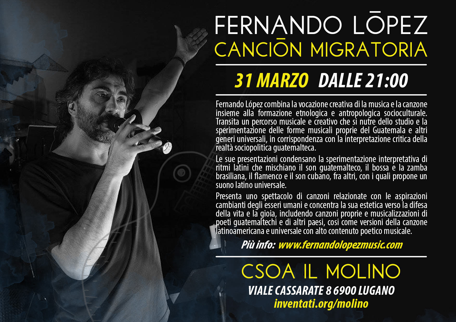 31.03.2017 - Fernando López - Canción Migratoria