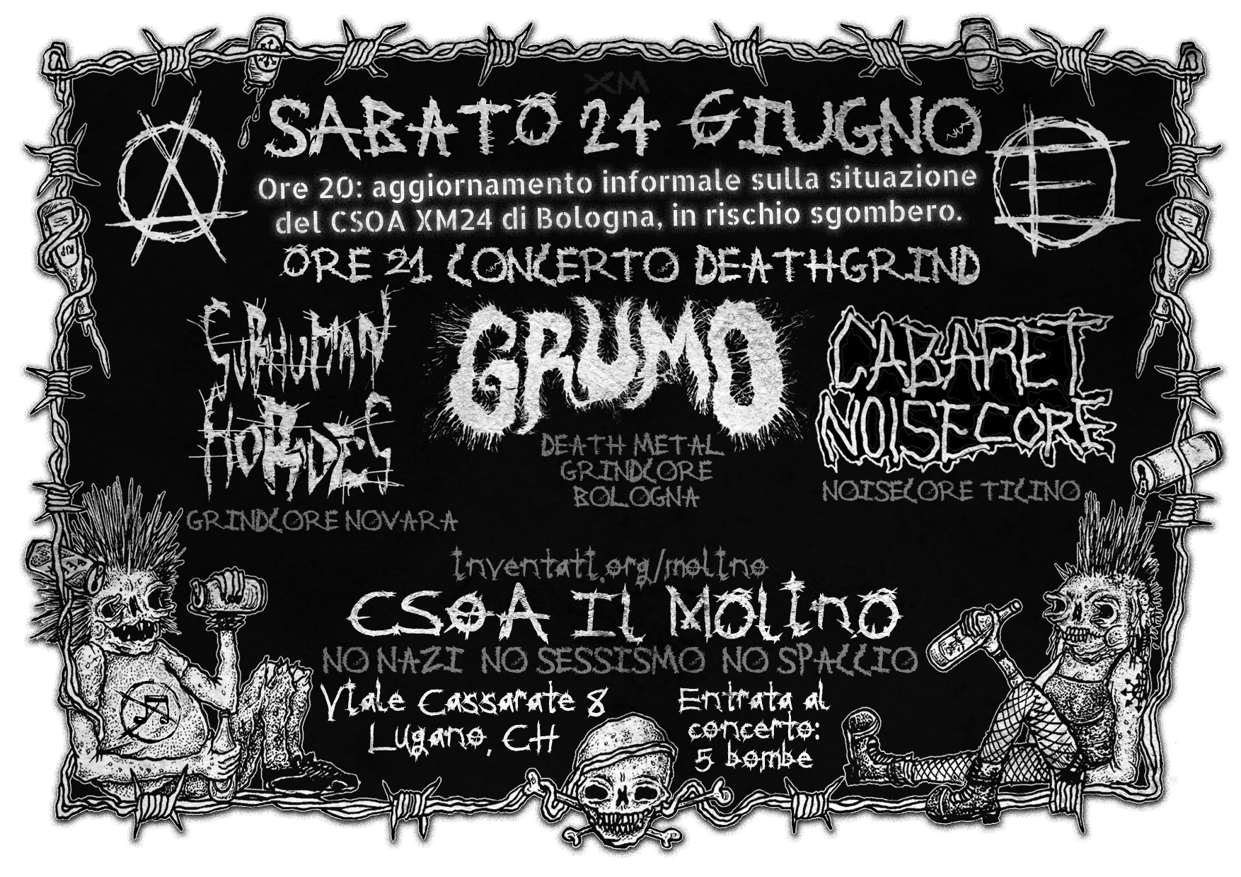 24.06.2017 - Grumo + Cabaret Noisecore - Concerto DeathGrind 1
