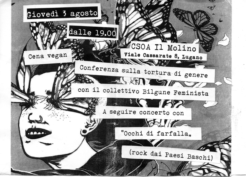 03.08.2017 - Conferenza sulla tortura di genere + Occhi di Farfalla