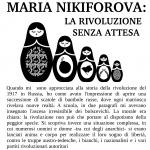 14.09.2017 - MARIA NIKIFOROVA: LA RIVOLUZIONE SENZA ATTESA