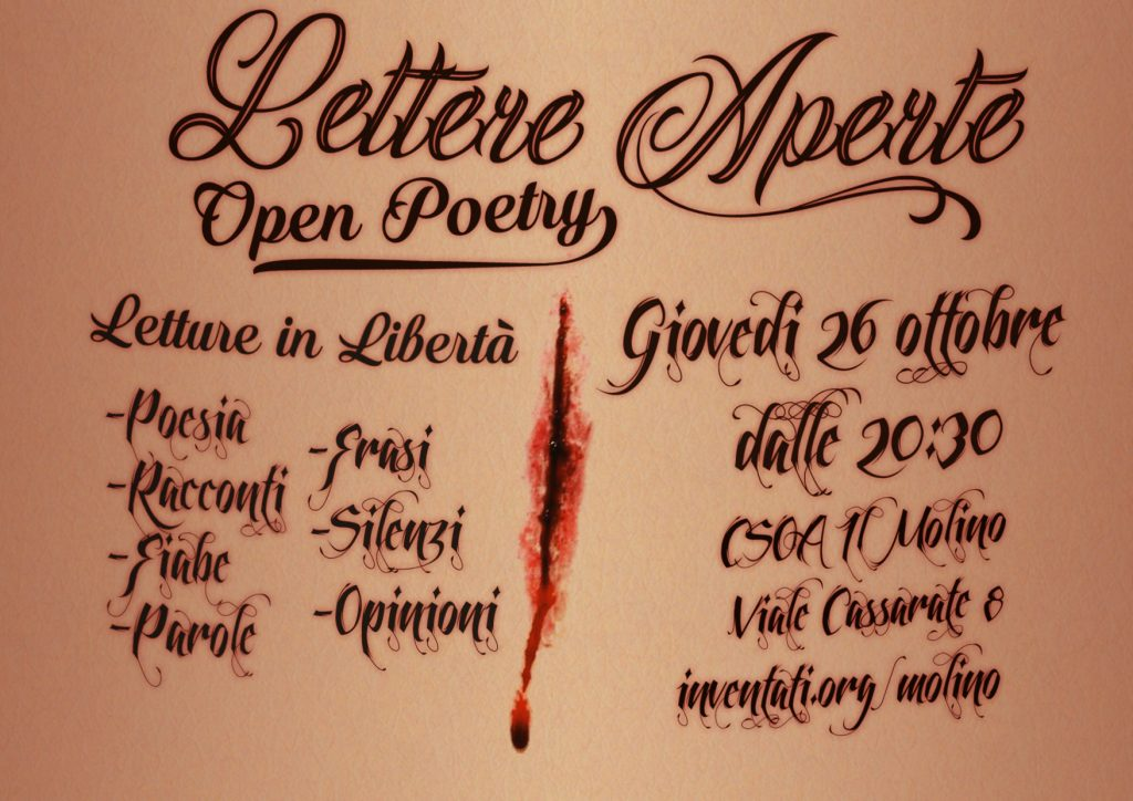 26.10.2017 - Letere Aperte, Open Poetry e Letture in Libertà 1