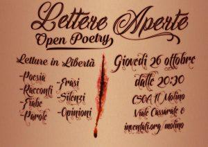 26.10.2017 - Lettere Aperte, Open Poetry e Letture in Libertà 1