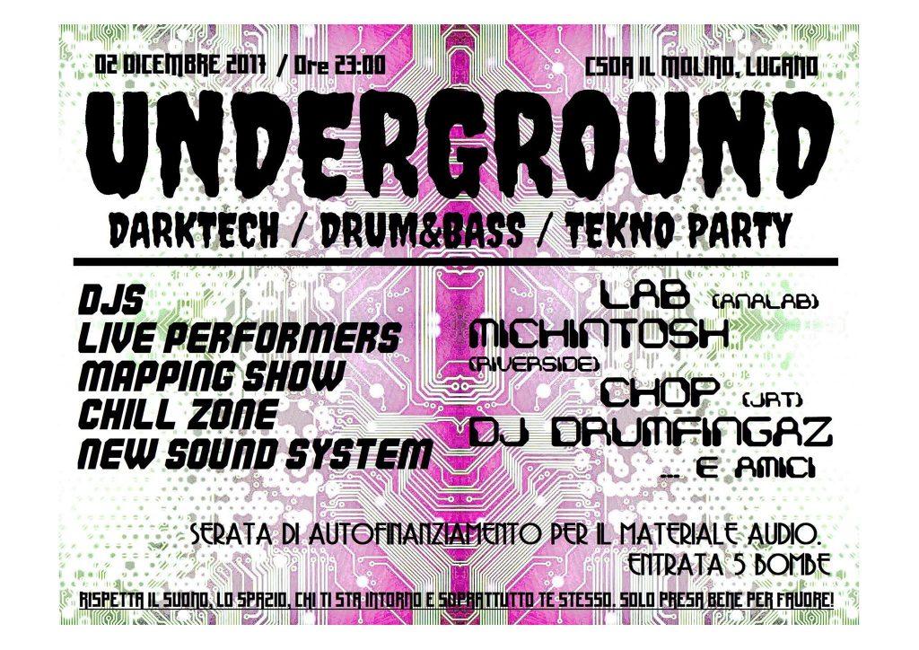 02.12.2017 - Underground Darktech / D'N'B / Tekno Party