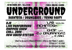 02.12.2017 - Underground Darktech / D'N'B / Tekno Party