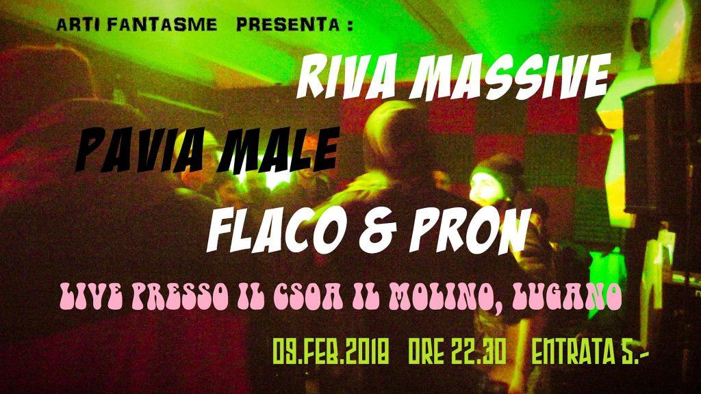 Serata Rap con Pavia male, Flaco & Pron, Riva Massive