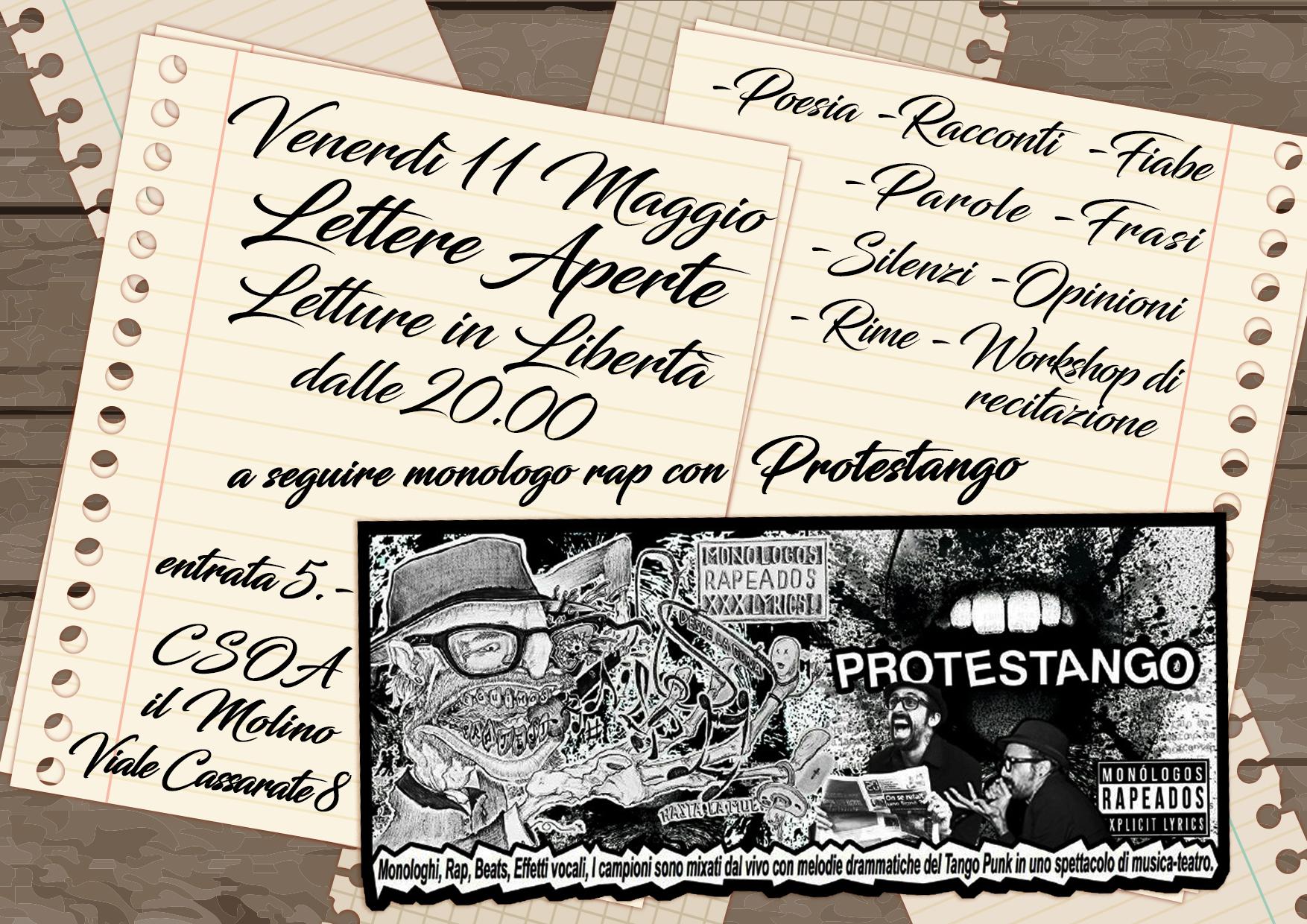 11.05.2018 - Lettere Aperte - Letture in Libertà + Protestango! 1