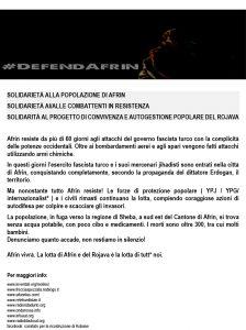 22.03.2018 - Presidio Spontaneo per Afrin 1