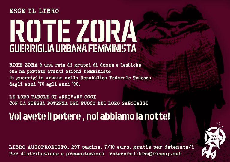 27.04.2018 - Presentazione libro Rote Zora - Guerriglia Urbana Femminista + Laboratorio di approfondimento tra donne, lesbiche e trans*