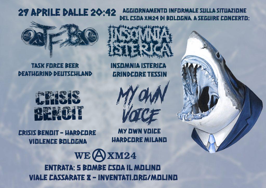 29.04.2018 - pres. XM24 - Crisis Benoit, Insomnia Isterica, Task Force Beer - DeathGrind Hardcore Violence 1