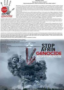 Presidio Urgente x Afrin domani sabato 17 marzo 2018 1