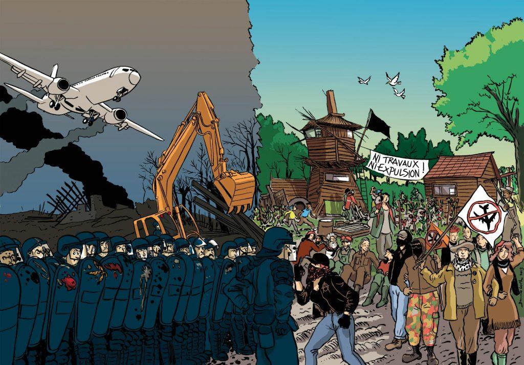 STATO DI DIRITTO: STATO DI GUERRA <br />ZAD Notre Dame des Landes: contro l'aeroporto e il suo mondo, la lotta continua!