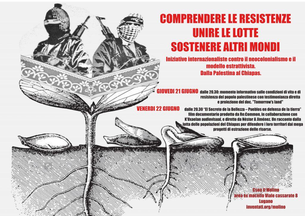 21-22.06.2018 - Iniziative internazionaliste contro il neocolonialismo e il modello estrattivista: dalla Palestina al Chiapas