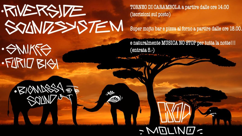 28/07/2018 - Riverside Sound System / Smikes & Furio Bigi / Biomassa Sound