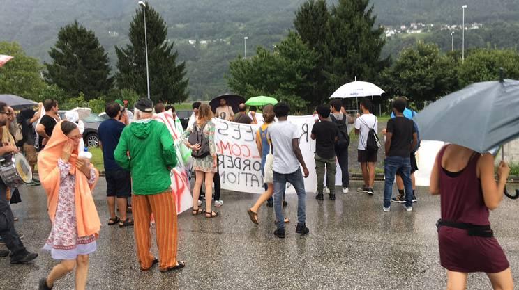 Una cinquantina i partecipanti alla protesta